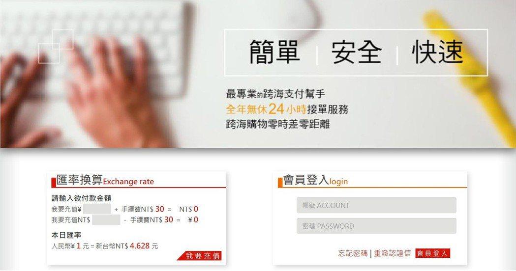 刑事局南打偵五隊破獲「百X站」網站涉違法經營地下匯兌。 圖/翻攝網站
