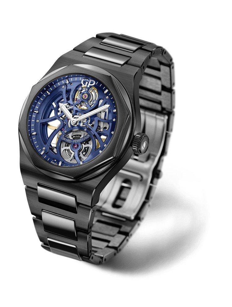 芝柏Laureato天際行者鏤空腕表,42毫米陶瓷表殼,114萬7,000元。圖...