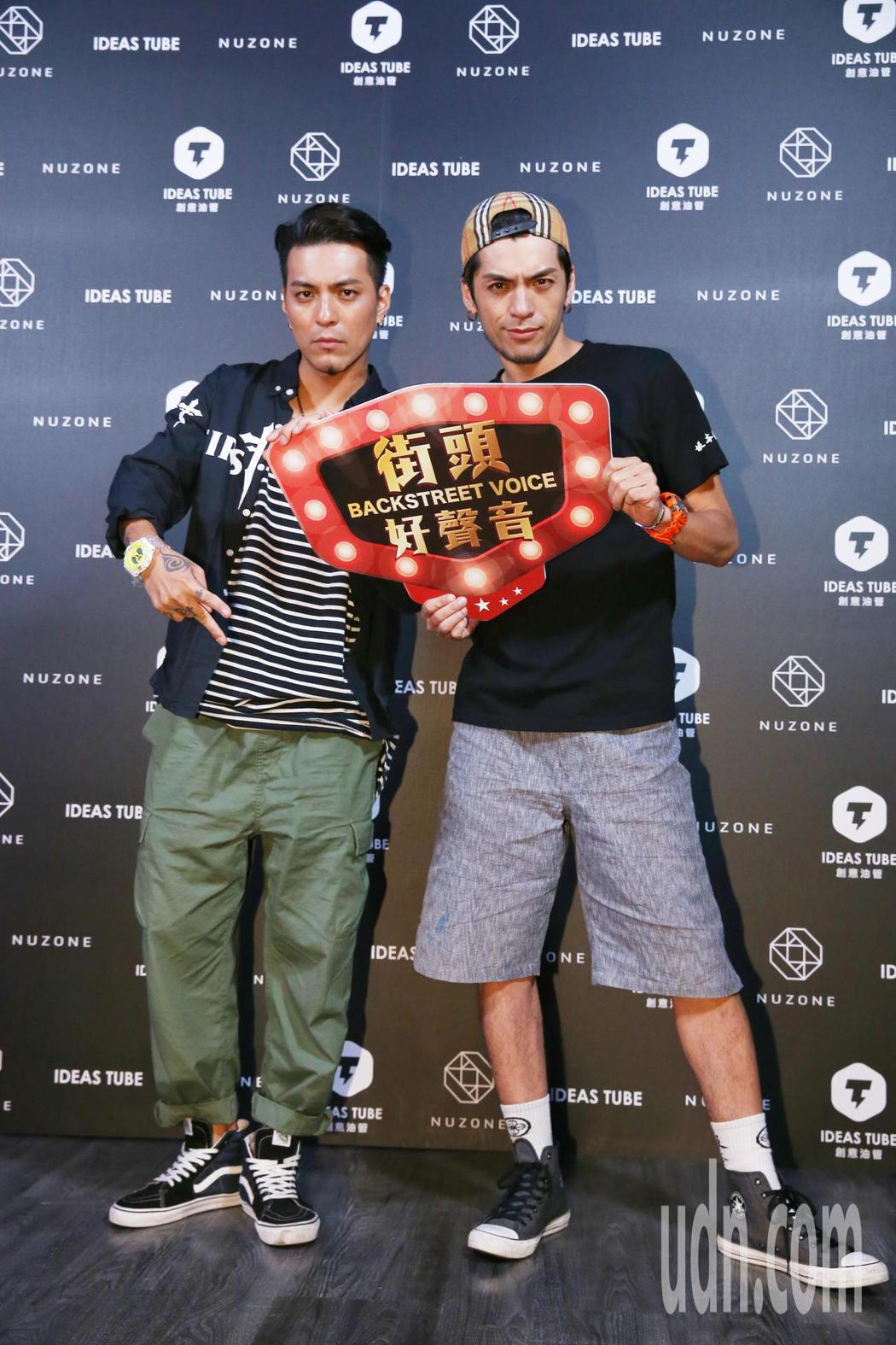 創意油管推出網路節目,街頭好聲音的主持人嘎嘎(左)與DJ宗華。記者曾原信/攝影