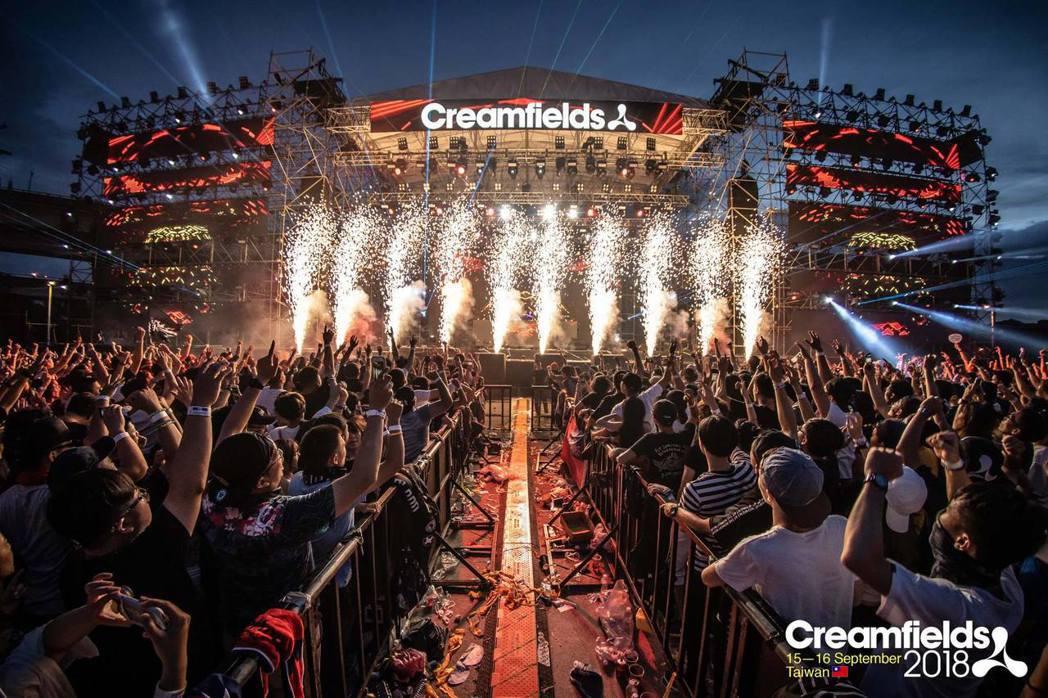 來自英國的電音盛宴「Creamfields 奶油田」台灣站將於 9月7日回歸。圖...
