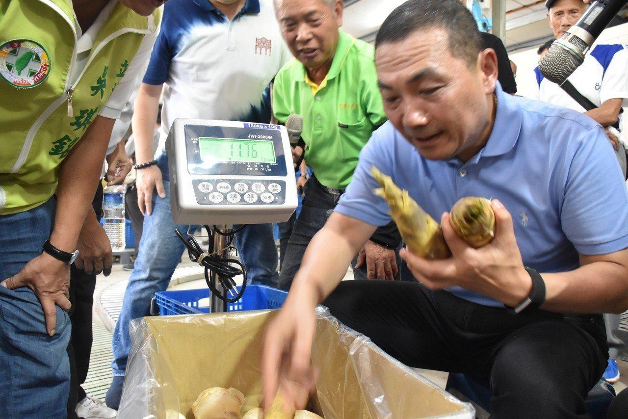 侯友宜訪視三峽綠竹筍集貨場 邀民眾來新北找好筍