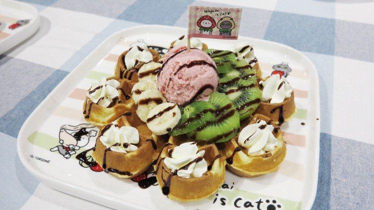 「鬆一口氣」水果冰淇淋鬆餅,220元。圖/Global Mall提供