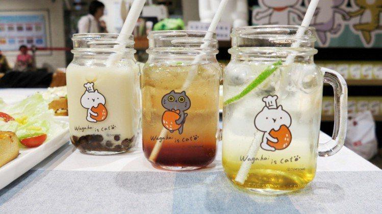 果醋氣泡飲80元、珍珠奶茶飲品90元。圖/Global Mall提供