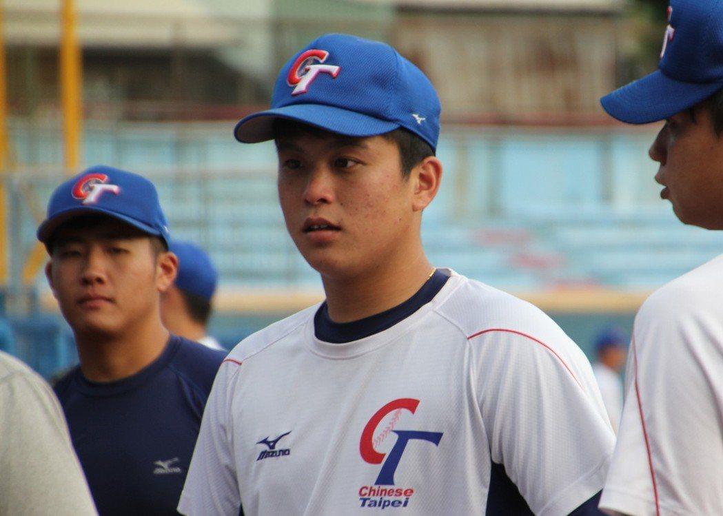 猿隊首輪指名投手蘇俊璋。記者葉姵妤/攝影