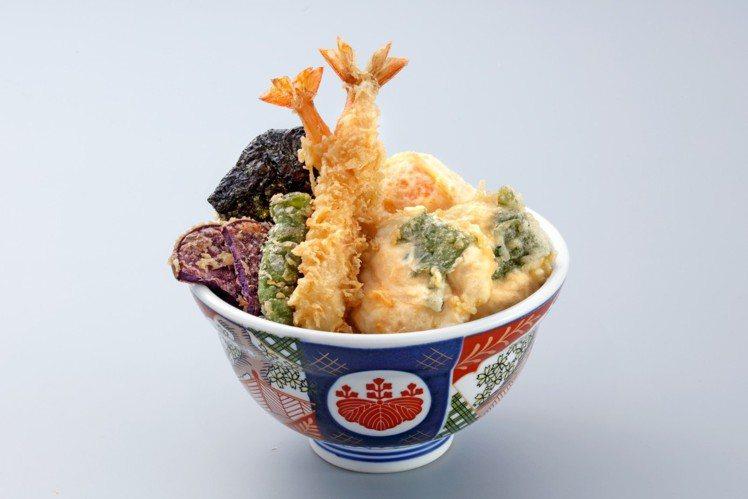 金子半之助在台新推出「嫩雞海老天丼」,每份270元。圖/金子半之助提供