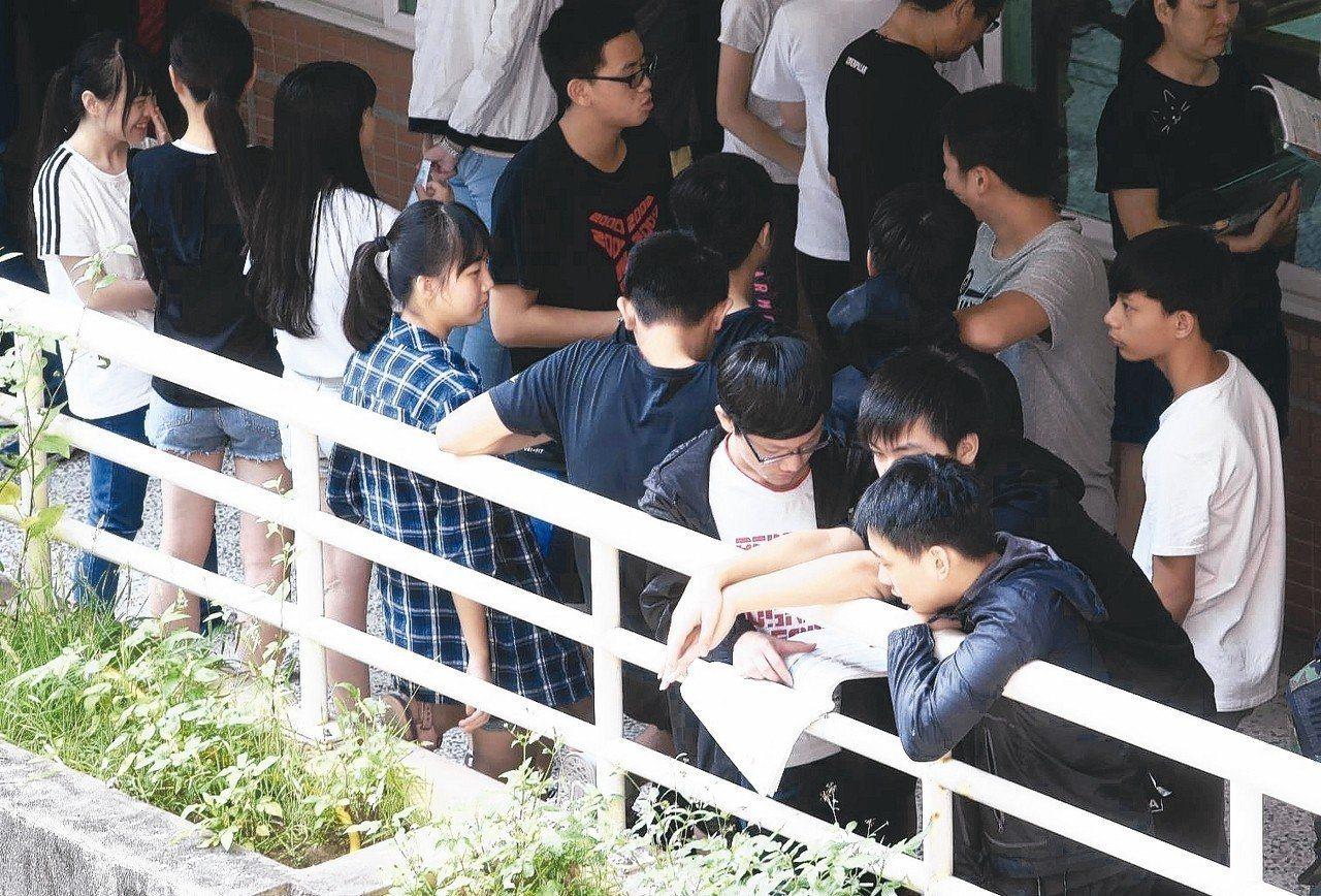 高中免試入學7月12日完成錄取報到,全國報到率為87.1%。圖/聯合報系資料照片
