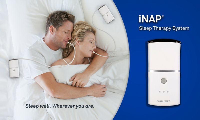 iNAP One負壓睡眠呼吸治療裝置,獲獎形象圖。 萊鎂醫/提供