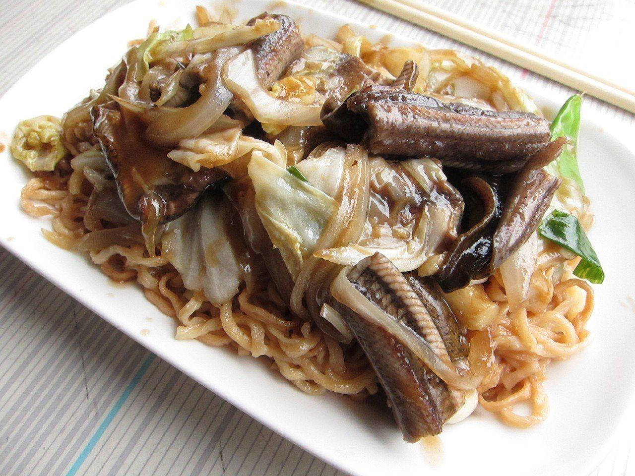 有超過四十年歷史的進福炒鱔魚專家。圖/聯合報系資料照