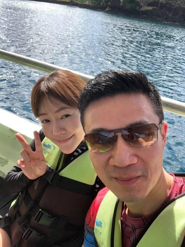 小S與老公許雅鈞。 圖/擷自小S臉書