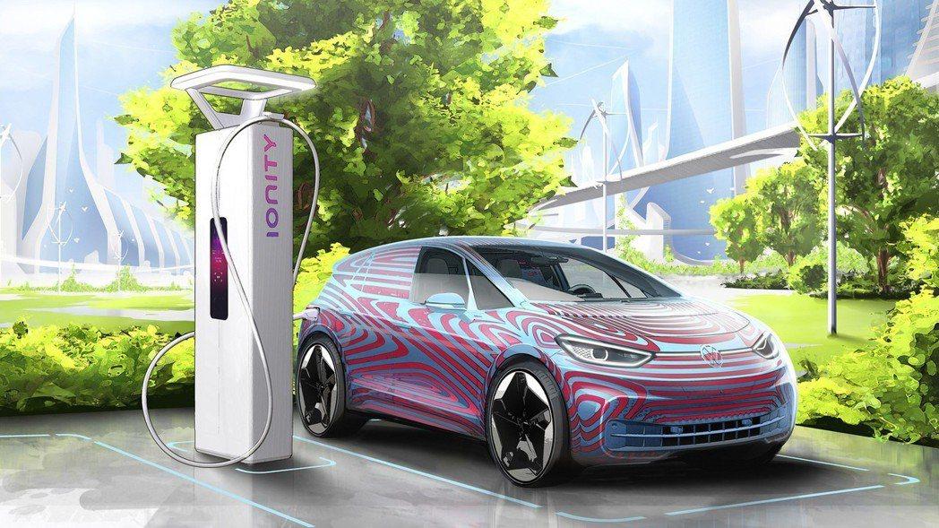 預計2025年全歐洲設有36,000座充電樁。 圖/Volkswagen提供