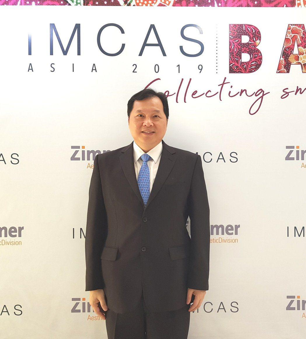 王正坤醫師日前受邀參加世界美容醫學大會IMCAS. 王正坤醫師/提供