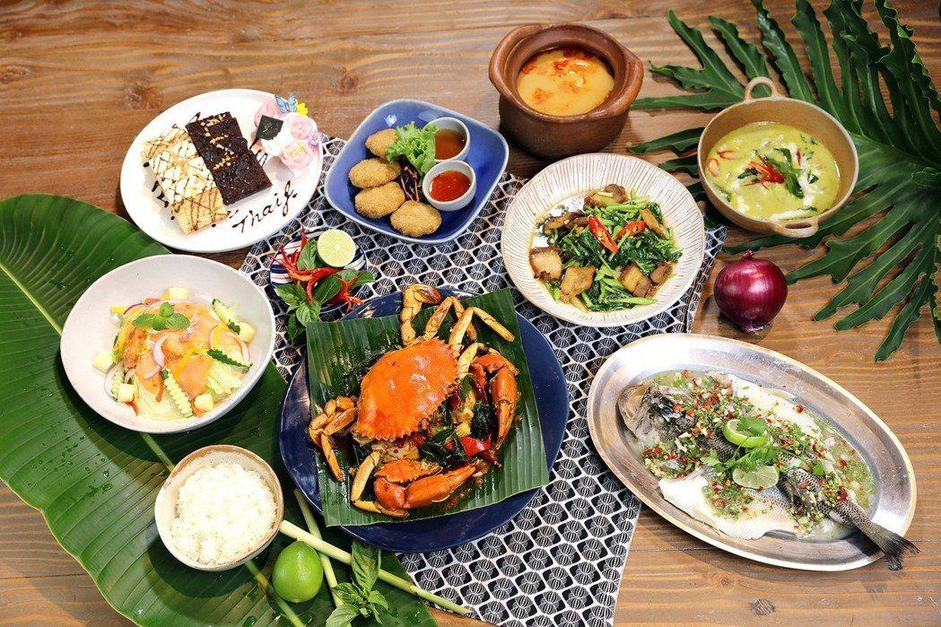 針對父親節推出「泰霸氣螃蟹」分別有2、4、6人套餐可選擇。Thai J/提供