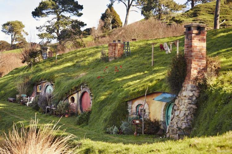 溫馨可愛的哈比屯位於紐西蘭北島,是電影為了拍攝特地搭建的。圖/ newzeala...