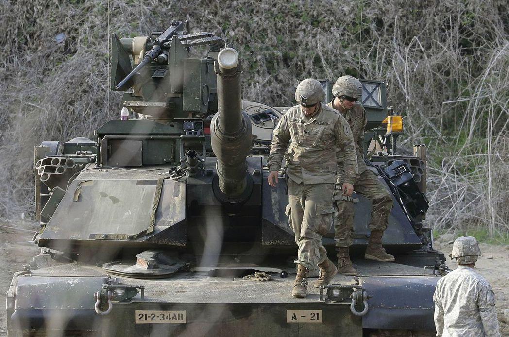 艾布蘭戰車在美國戰車發展史上,占有極重要地位。 (美聯社)