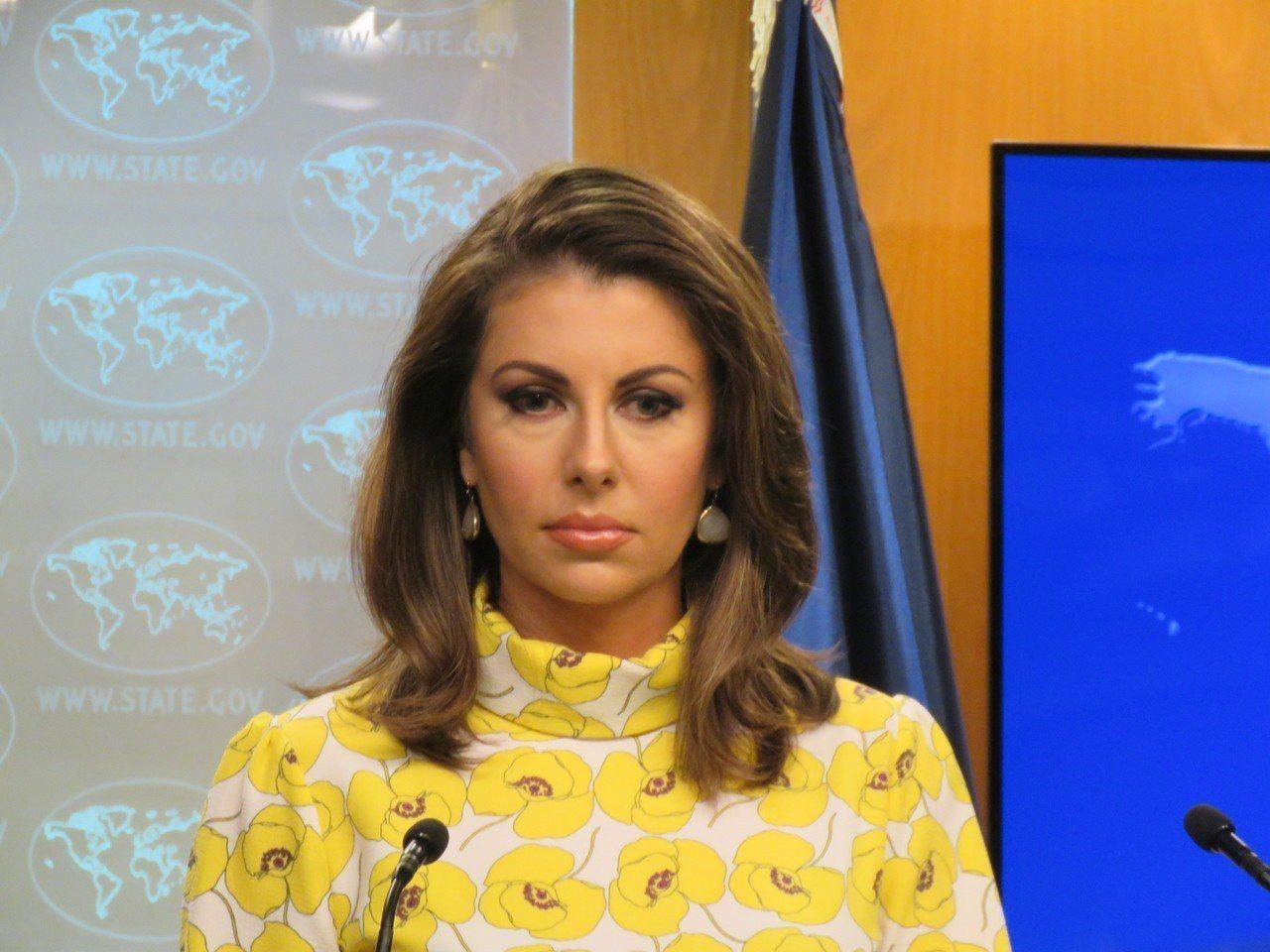 美國國務院發言人歐塔加斯。 華盛頓記者張加/攝影