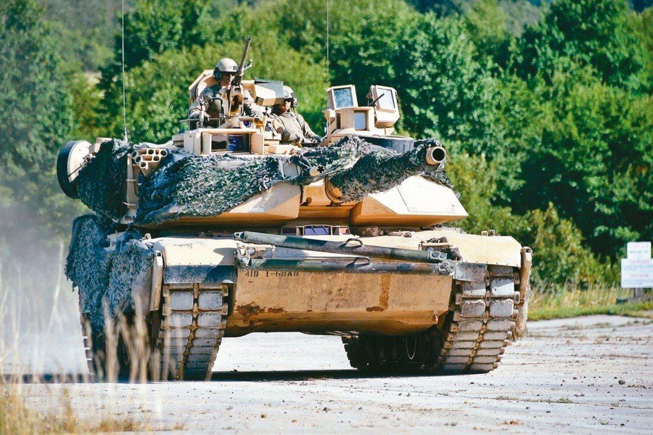 美對台軍售M1A2戰車。 圖/美國國防部網站