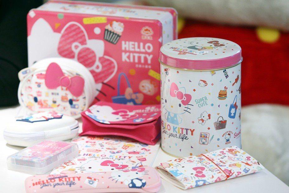 三麗鷗Hello Kitty授權商品。記者邱德祥/攝影
