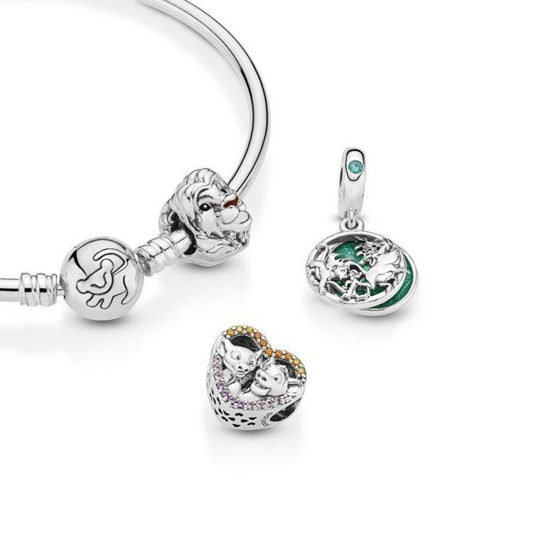 PANDORA聯名「獅子王」,珠寶飾品售價2,480元~3,680元。圖/PAN...