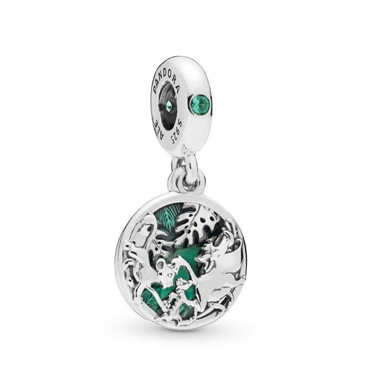 PANDORA叢林遊歷925銀琺瑯串飾、2,480元。圖/PANDORA提供