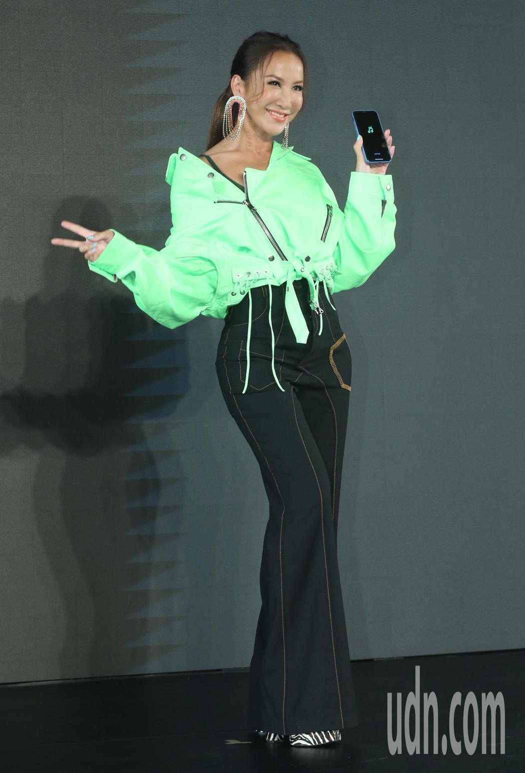LINE MUSIC 上線記者會,邀請歌手李玟擔任代言人。記者林俊良/攝影