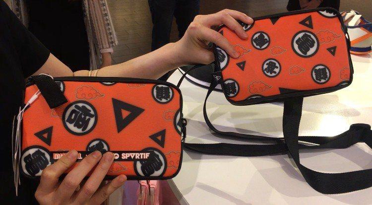 七龍珠聯名包可以變身拆成兩個包包。記者吳曉涵/攝影