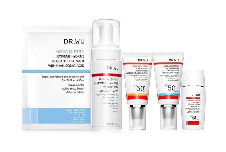DR.WU首度與康是美攜手舉辦最強品牌月,多款熱銷商品任選買1送1。圖/DR.W...