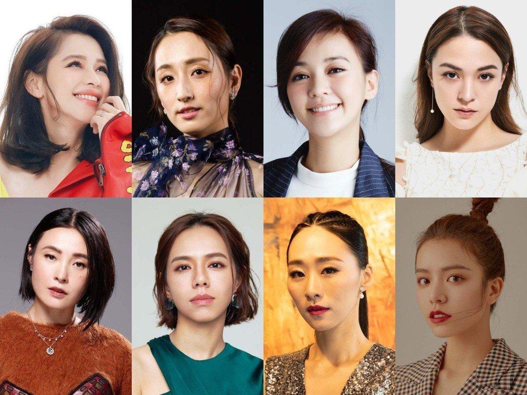 台北電影獎頒獎嘉賓,再公布8位台灣女神。圖/北影提供