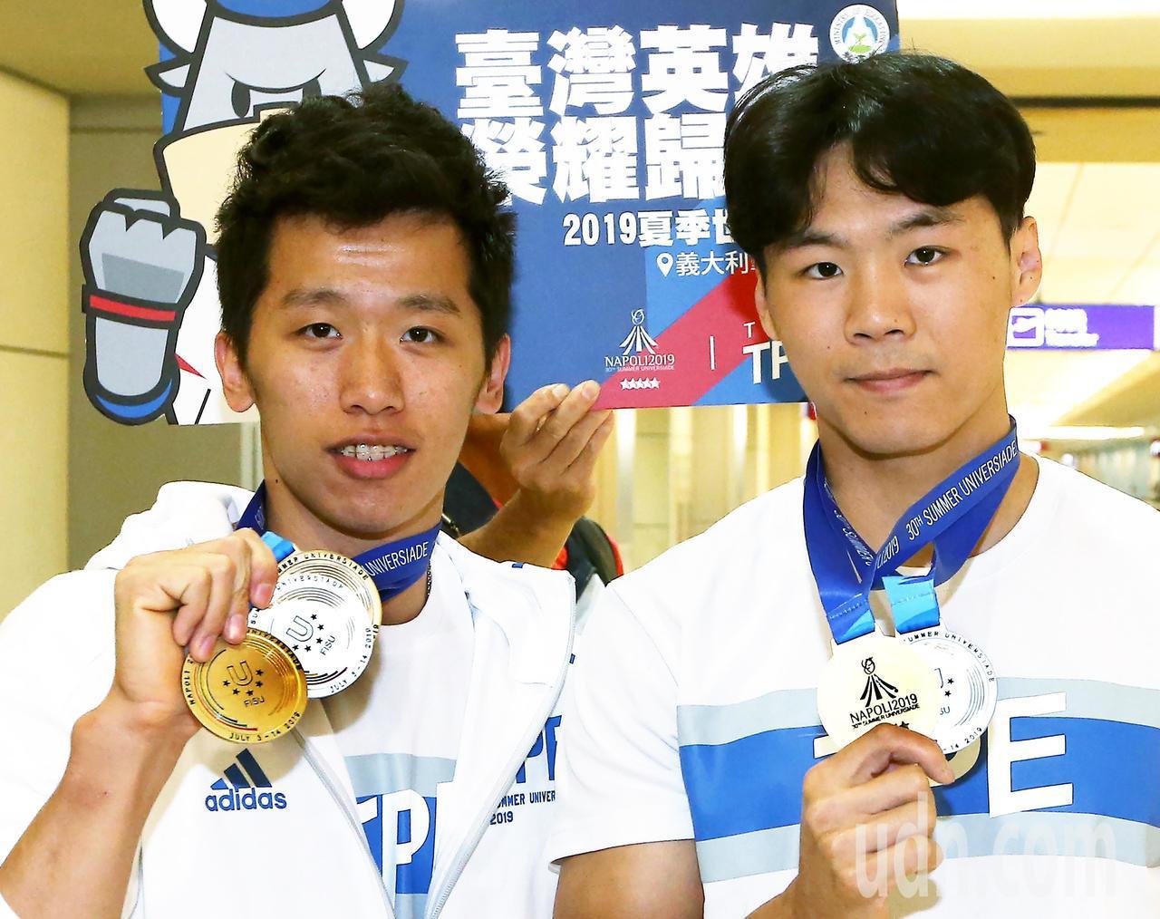 我國體操好手李智凱、唐嘉鴻兩人將在世錦賽單項決賽續拚獎牌。 聯合報系資料照