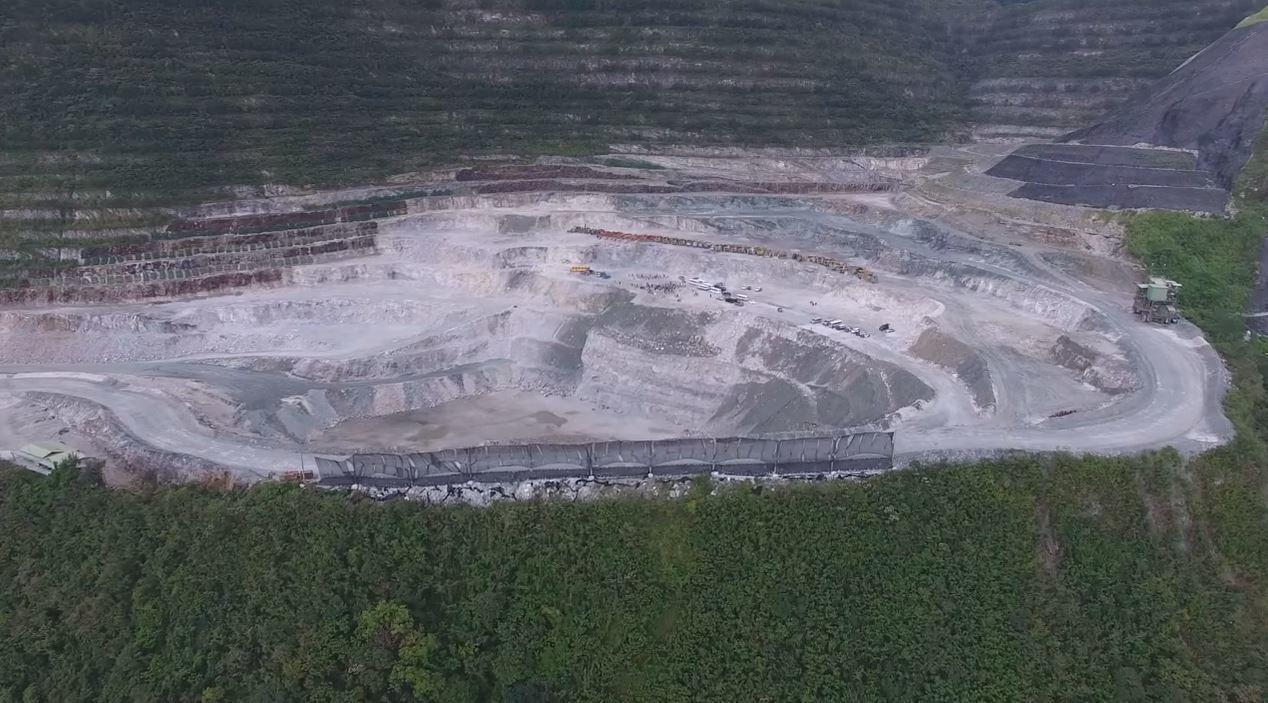 花蓮亞泥新城空拍畫面。取自地球公民基金會空拍影音