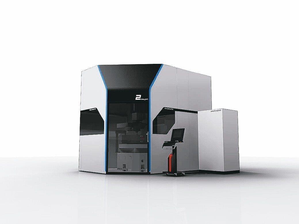 億曜公司推出世界最先進的七軸CNC放電加工機。 億曜公司/提供