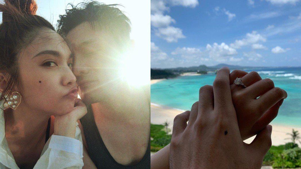 李榮浩向楊丞琳求婚成功。 圖/擷自李榮浩臉書