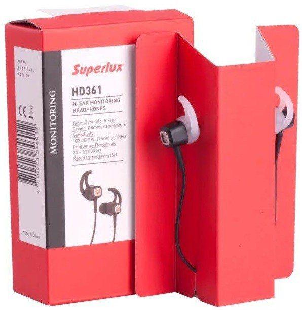 Superlux舒伯樂監聽級入耳式耳機HD361。