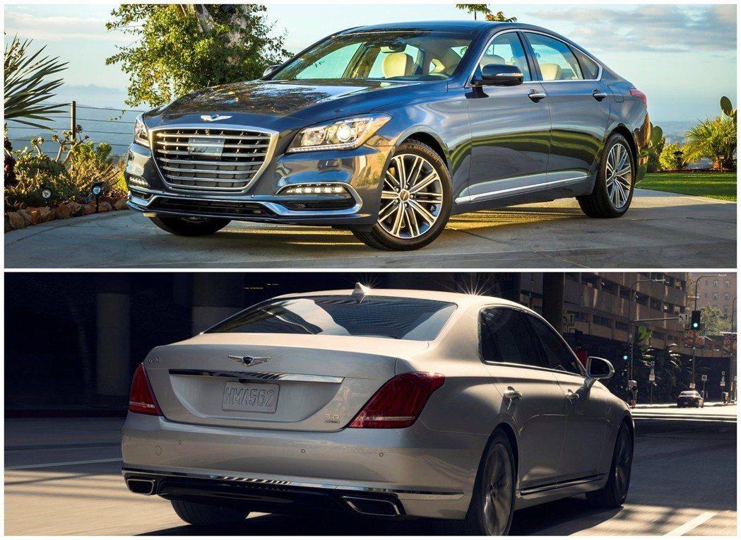 Genesis G80、Genesis G90兩款車今年上半年在北美市場銷量皆為...