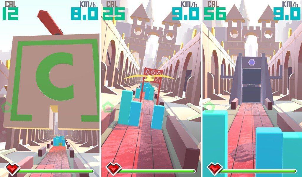 遊戲可以自由切換真實環境裡或3D虛擬場景
