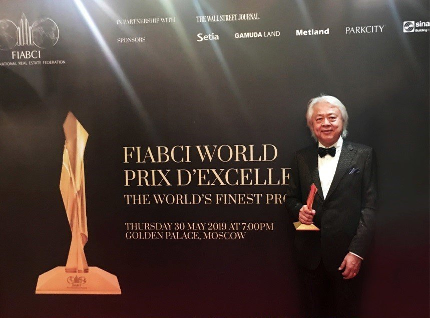 統創集團總裁黃子亮親赴莫斯科接受世界不動產聯盟(IABCI)抱回「全球卓越建設獎...
