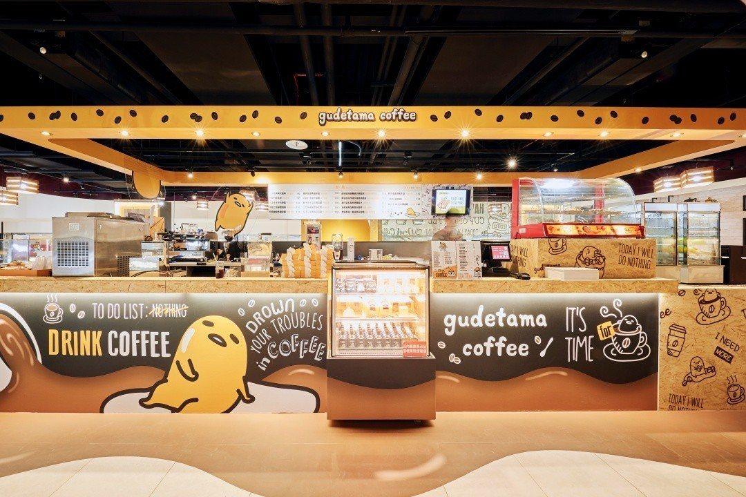 蛋黃哥不想上班咖啡廳前進新竹開快閃店,期間限定只有3個月。圖/蛋黃哥不想上班咖啡...