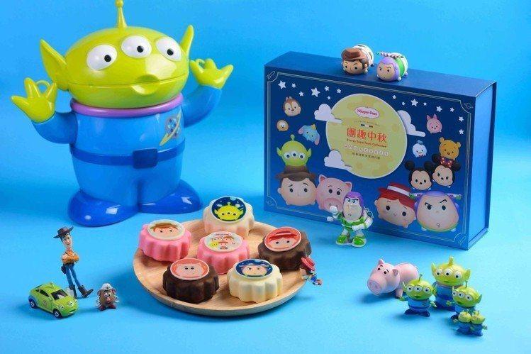 Häagen-Dazs玩具總動員限量聯名款「團趣中秋」禮盒,售價1,380元。圖...