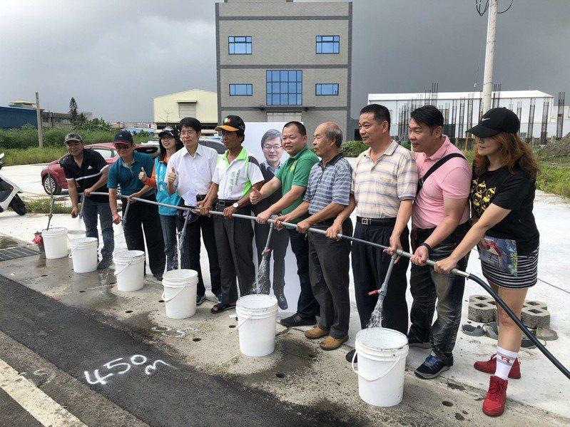 台南市和順工業區台江大道一段自來水,今天通水啟用。圖/台灣自來水公司第六區管理處提供