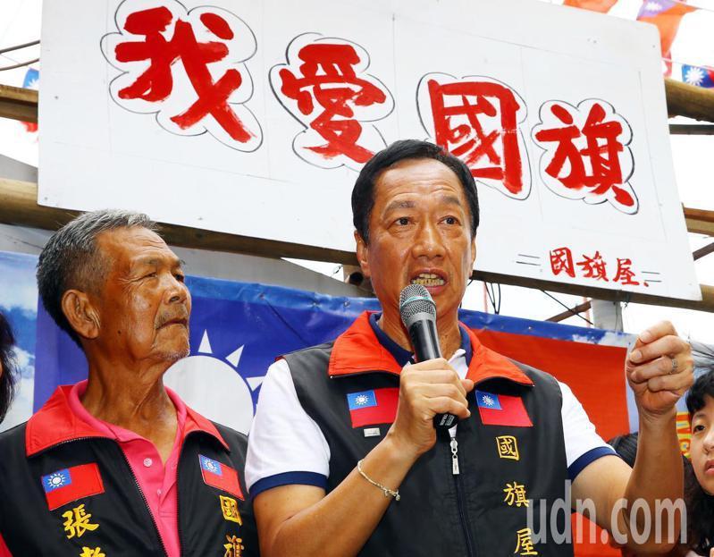 國民黨總統初選人郭台銘表示,下周一民調結果公布後,將發表很重要的參選感言與未來方向說明書。 聯合報系記者杜建重/攝影