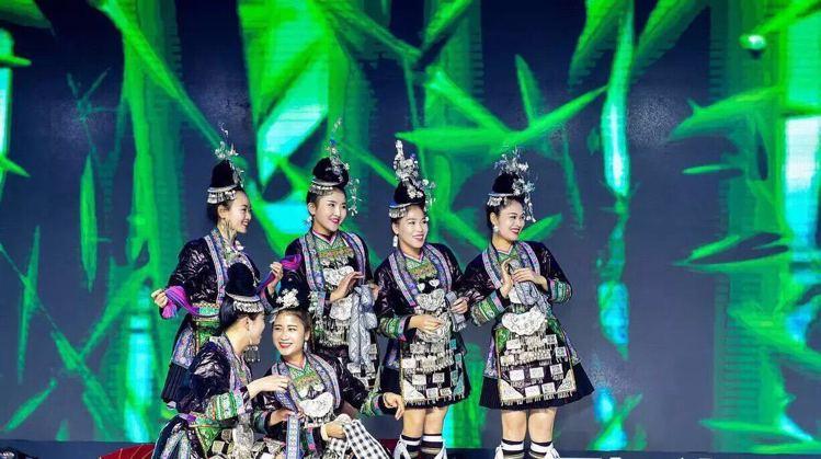 貴州侗族也遠道而來,帶來精采演出。圖/海峽兩岸旅展主辦單位提供