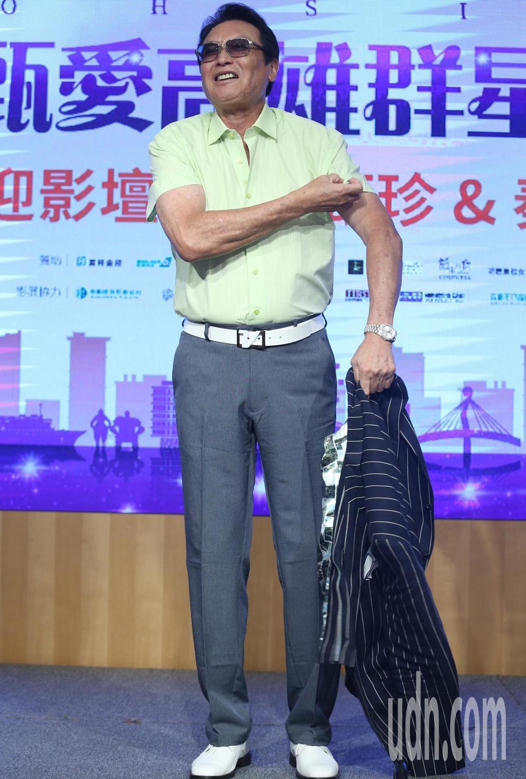 秦祥林專程從美國返台參加影展。記者劉學聖/攝影