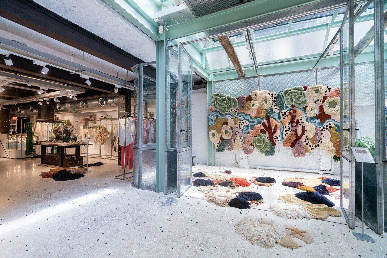 陽光玻璃屋的「活珊瑚」則是特別為了此次展覽而設計。圖/onefifteen初衣食...