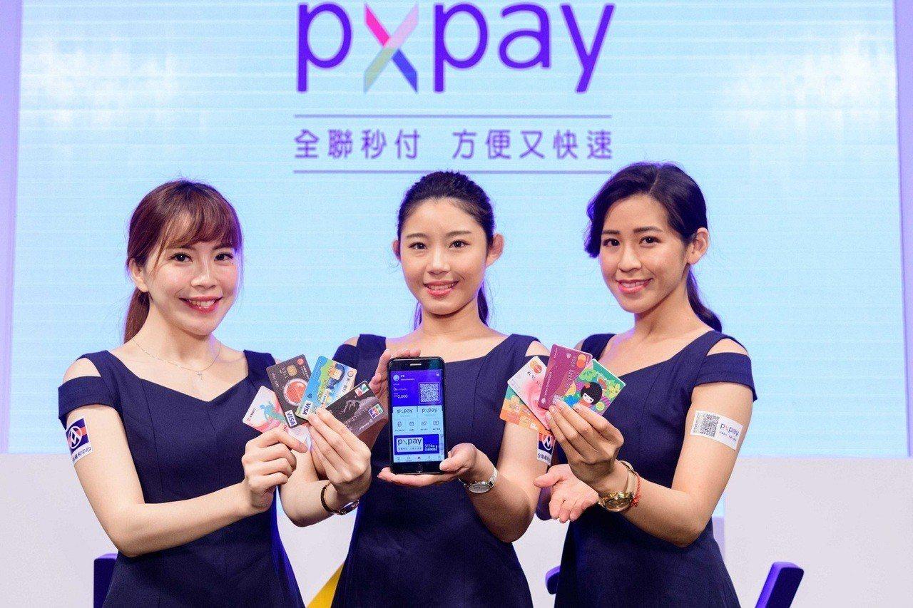同時與八大合作銀行合作的多卡片策略是全聯PX Pay推行成功的主因之一。圖/全聯...