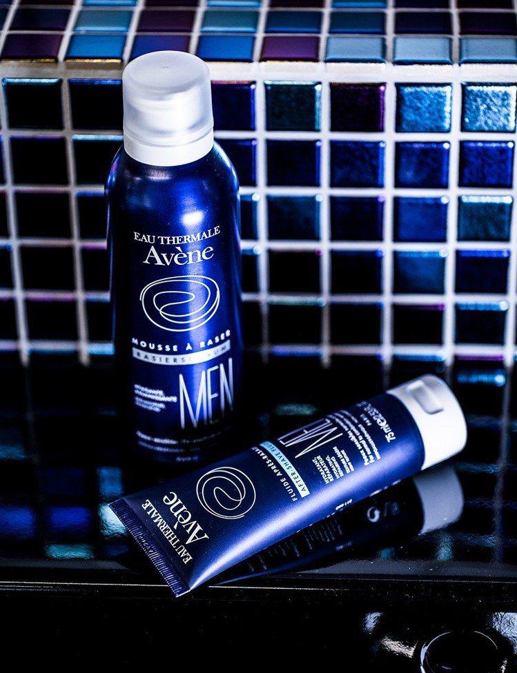康是美獨家販售的Avene雅漾男士系列包括舒緩刮鬍慕斯、舒緩保濕凝乳。圖/康是美...