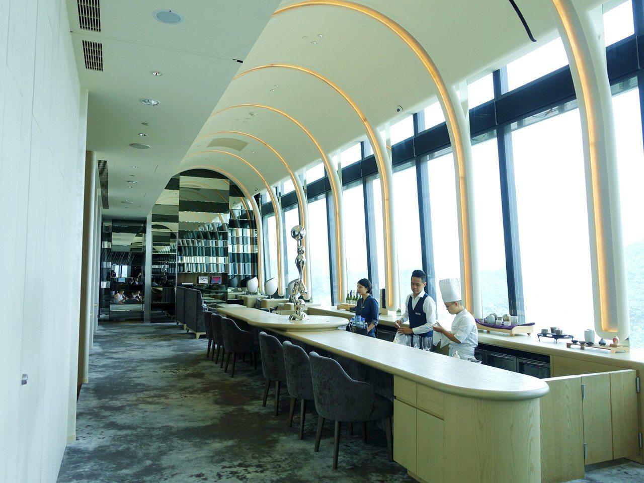 位於微風南山46樓的The Ukai Taipei。記者張芳瑜/攝影