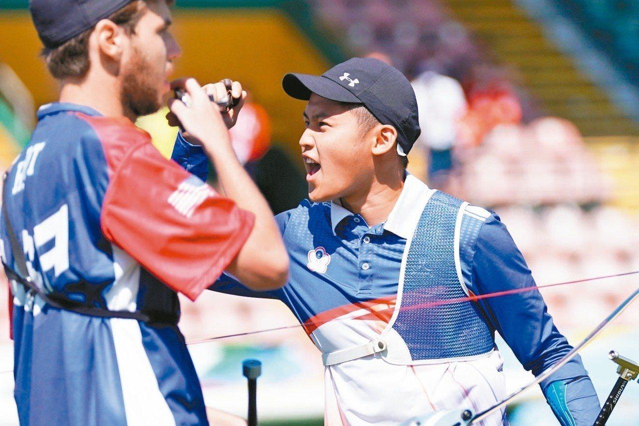 湯智鈞首度參加世大運,就闖到射箭反曲弓男團金牌戰。 圖/大專體育總會提供