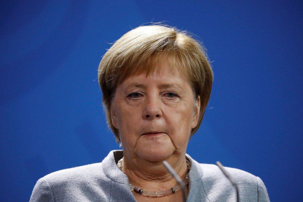 德國總理梅克爾。(法新社)