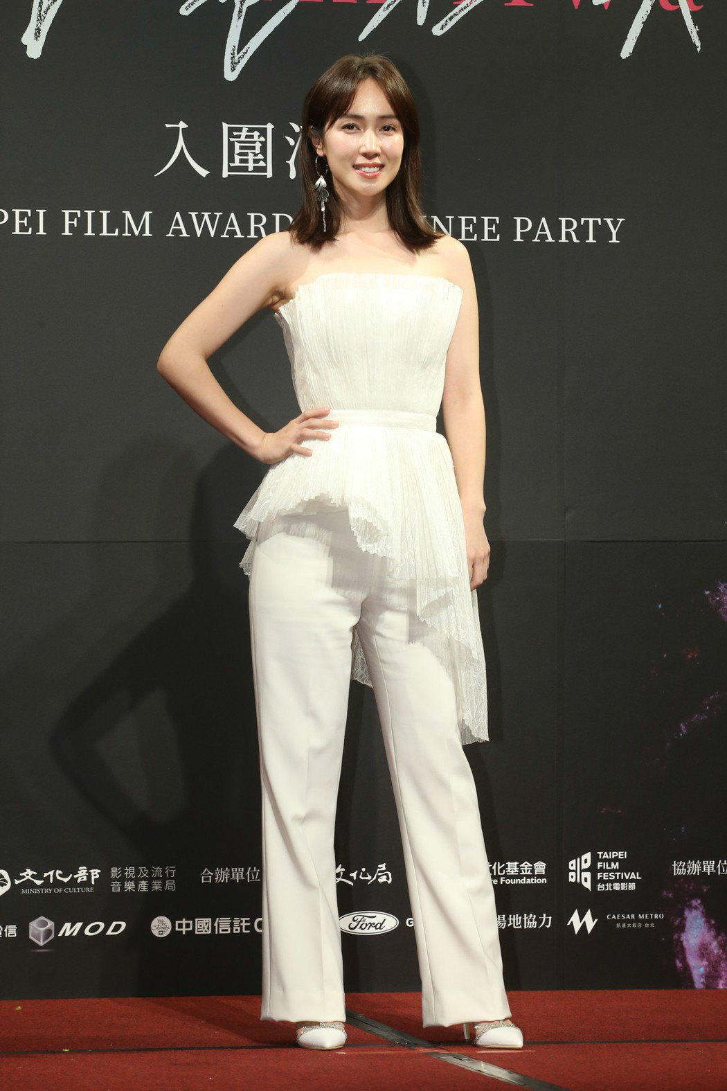 最佳女配角入圍者黃瀞怡昨天出席台北電影獎入圍酒會。記者葉信菉/攝影 葉信菉