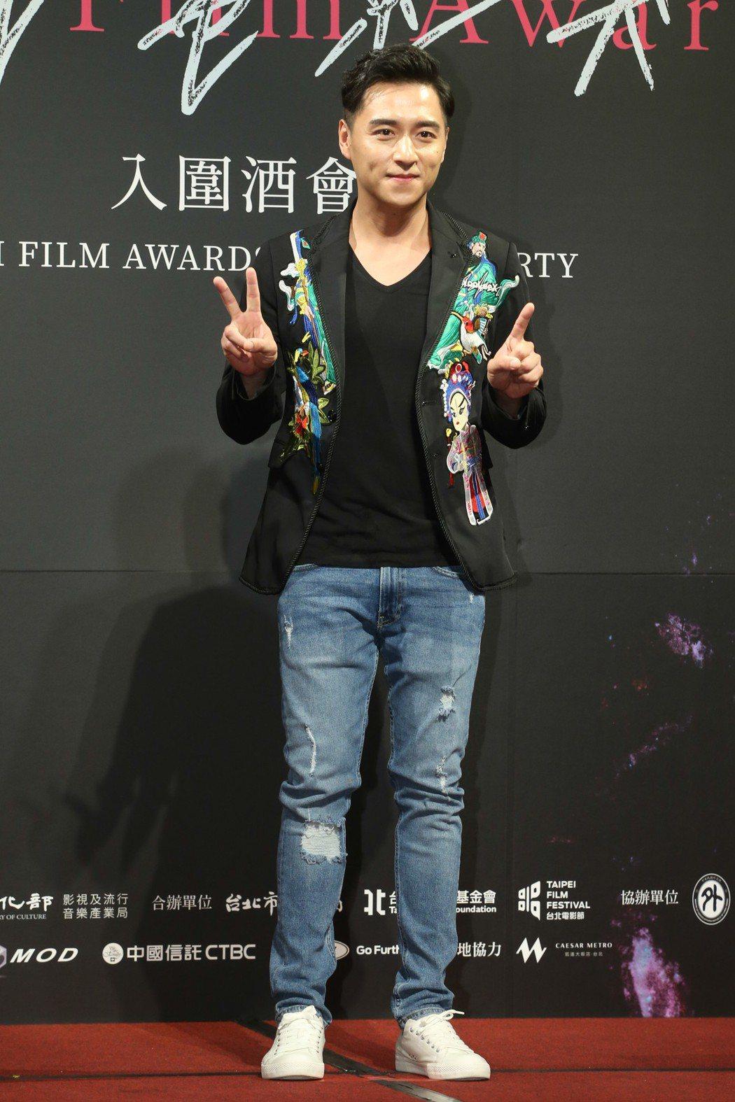 最佳男主角入圍者鄭人碩昨天出席台北電影獎入圍酒會。記者葉信菉/攝影 葉信菉