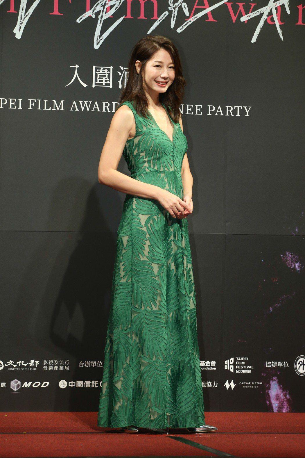最佳女配角入圍者丁寧昨天出席台北電影獎入圍酒會。記者葉信菉/攝影 葉信菉